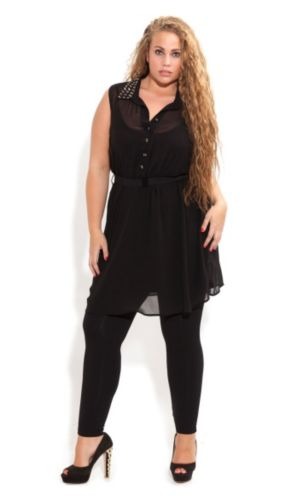 Stud Colllar Tunic