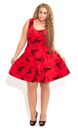 Flocked Skater Dress