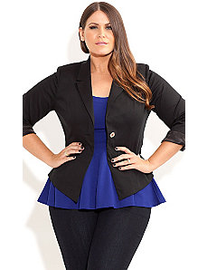 One Button Jacket by City Chic