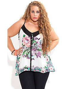 Floral Contrast Top by City Chic