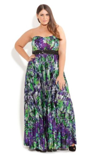 Diana Pleat Maxi Dress