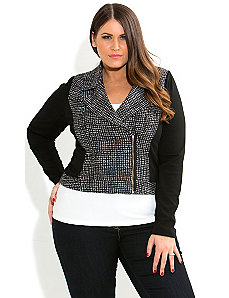 Boucle Ponte Jacket by City Chic