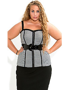 Houndstooth Corset by City Chic