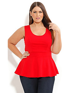 Scoop Peplum Top by City Chic