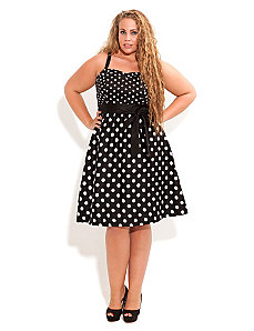 Cute Spot Dress by City Chic