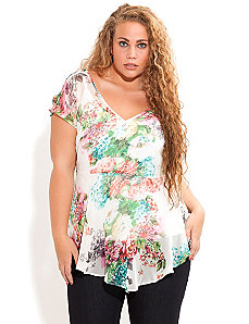 Hi Lo Hyacinth Top by City Chic
