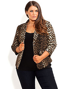 Animal Rouched Jacket by City Chic