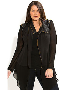 Super Stud Drapey Jacket by City Chic