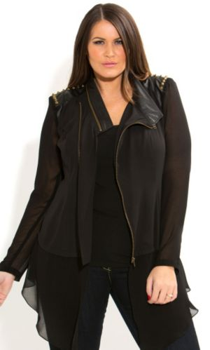 Super Stud Drapey Jacket