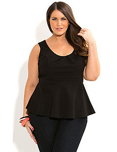 Textured Peplum Top by City Chic