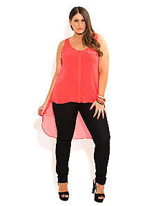 Hi Lo Neon Top by City Chic