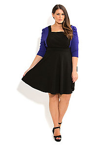 Pinafore Skater Dress by City Chic