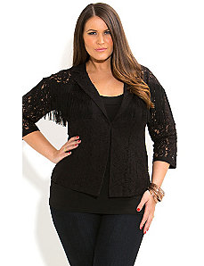Lacey Fringe Jacket by City Chic