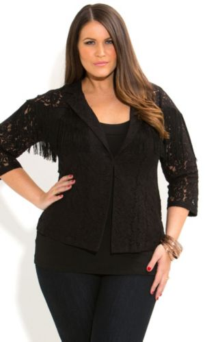 Lacey Fringe Jacket