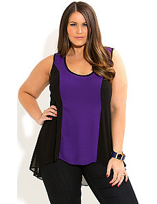 Hi Lo Splice Top by City Chic
