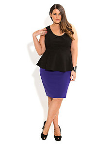 Ponte Pencil Skirt by City Chic