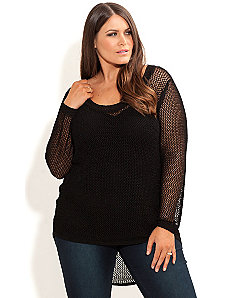 Hi Lo Crochet Jumper by City Chic