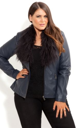 Faux Fur Vinyl Jacket