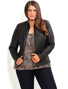 Zip Biker Jacket by City Chic