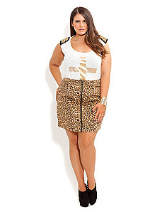 Roar Skirt by City Chic