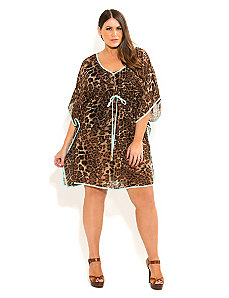 Animal Print Kaftan by City Chic