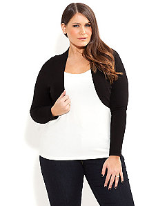 Long Sleeve Shrug by City Chic
