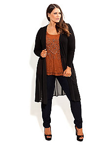 Drape Front Cardi by City Chic