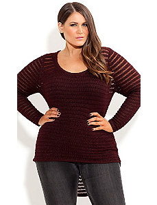 Hi Lo Crochet Sweater by City Chic