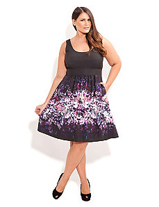 Violet Rain Dress by City Chic