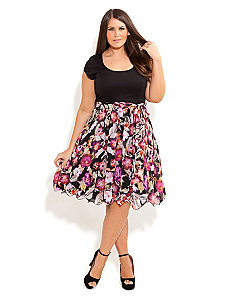 Floral Siren Dress by City Chic