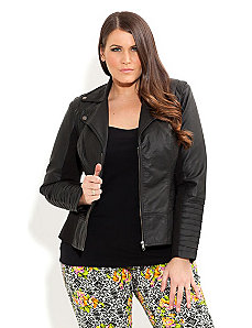 Pintuck Evie Jacket by City Chic