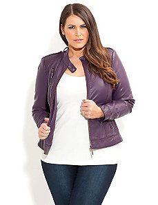 Harlow Biker Jacket by City Chic