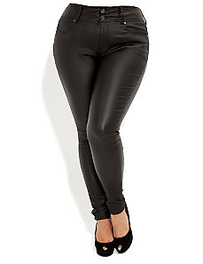 Wet Look Skinny Jean by City Chic