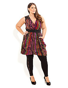 Rainbow Serpent Tunic by City Chic