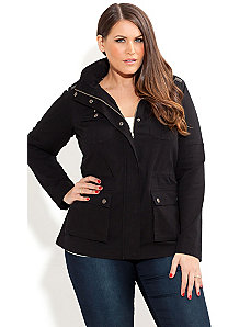 Stud Utility Jacket by City Chic