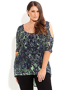 Dark Forest Top by City Chic