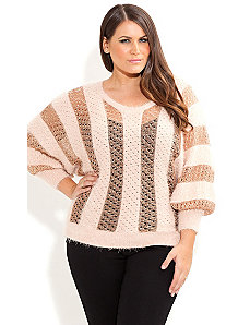 Soft V Neck Jumper by City Chic