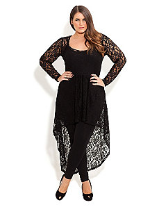 Lace Armour Tunic by City Chic