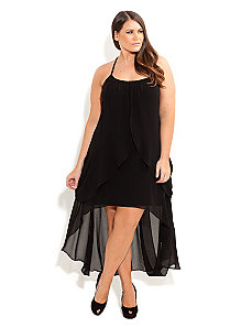 Drape Goddess Dress by City Chic