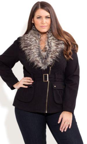 Fur Trim Utility Jacket