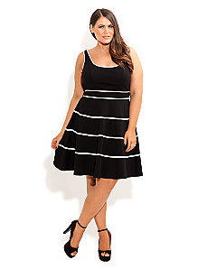 Swing Skater Dress by City Chic