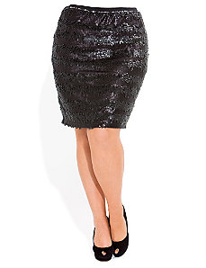 Sequin Skirt by City Chic