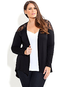 Cute Lace Cardi by City Chic
