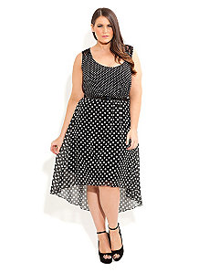 Spotty Lace Dress by City Chic