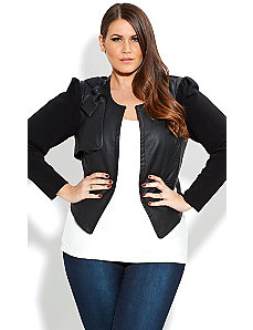 Bow Bella Jacket by City Chic