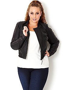 Sexy Spike Stud Jacket by City Chic