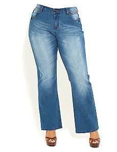 Stud Bootleg Jean by City Chic