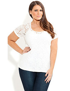 Cute Lace Top by City Chic
