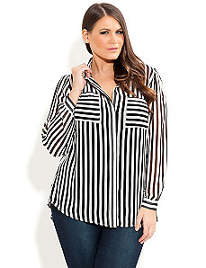 Ringmaster Shirt by City Chic