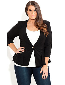 Sexy Peplum Jacket by City Chic